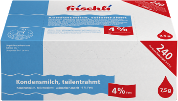 Kondensmilch 4 %<br><small>240 x 7,5 g</small>